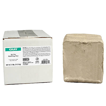 AMACO® Air Dry Clay, Gray, 25 Lb