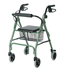 Guardian Economy Rollator 6 Wheels Green
