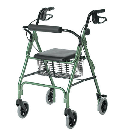 "Guardian Economy Rollator, 6"" Wheels, Green"