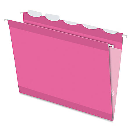 Pendaflex® Ready-Tab™ Hanging Folders, Letter Size, Pink, Pack Of 20