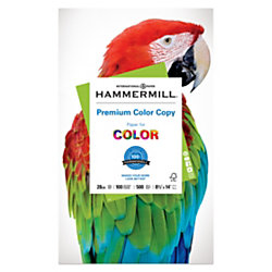 "Hammermill® Color Copy Paper, Legal Size (8 1/2"" x 14""), 28 Lb, Ream Of 500 Sheets"