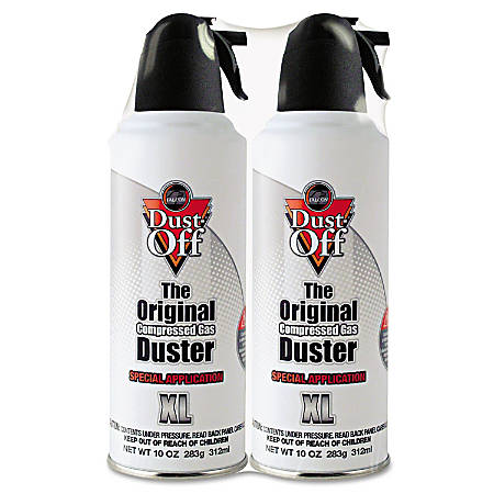 Dust-Off Compressed Gas Non-Flammable Duster, 10 Oz, Pack Of 2