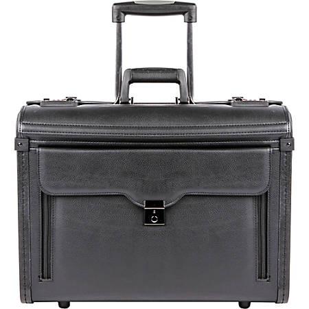 "bugatti Carrying Case for 17"" Notebook - Black - Koskin - 15"" Height x 19"" Width x 9"" Depth"
