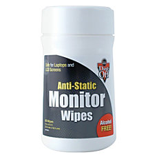 Dust Off Antistatic Monitor Wipes Pack