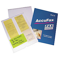 Accufax Reusable Fax Document Carriers Letter