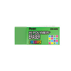 Pentel Hi Polymer Erasers Assorted Colors