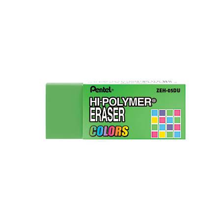 Pentel® Hi-Polymer Erasers, Assorted Colors, Pack Of 6