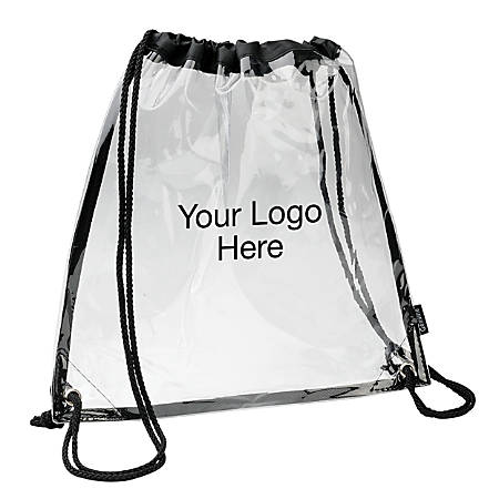 """Event Drawstring Cinchpack, 12"""" x 12"""", Clear"""
