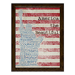 "Timeless Frames® Americana Framed Artwork, 16"" x 12"", America The Beautiful"