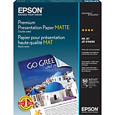 Epson Double Sided Premium Presentation And