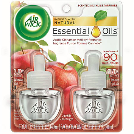 Air Wick Apple Scented Oil - Oil - 6.2 fl oz (0.2 quart) - Apple Cinnamon Medley - 45 Day - 2 / Pack
