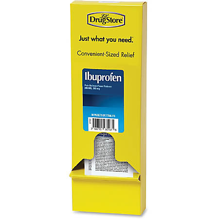 Lil' Drug Store Ibuprofen Tablets - For Fever, Pain, Headache, Arthritis, Muscular Pain, Backache, Menstrual Cramp, Common Cold - 50 / Box
