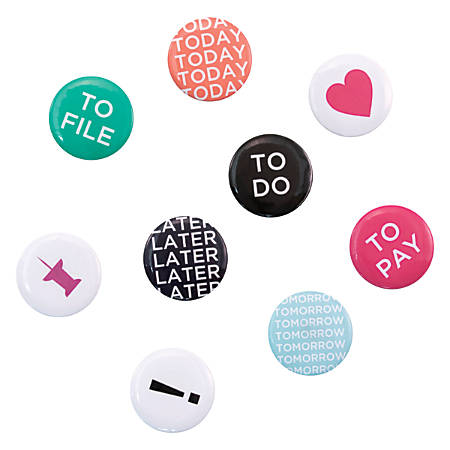 See Jane Work® Peggable Magnets, Tasks, Pack Of 9 Magnets