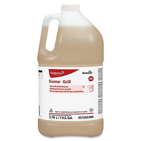 Diversey Suma Oven/Grill Cleaner - Ready-To-Use Liquid - 1 gal (128 fl oz) - 4 / Carton - Brown