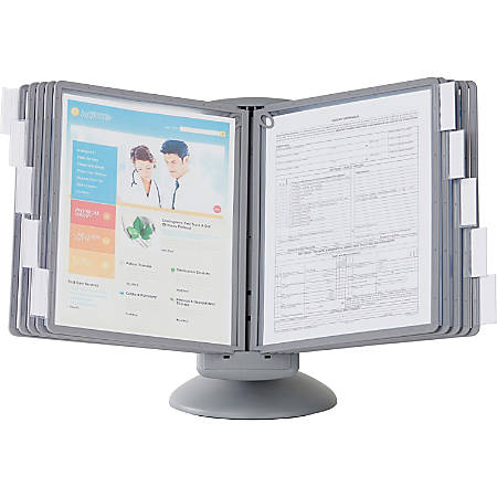 Sherpa® Motion Desk Reference System, Graphite, 10 Panels