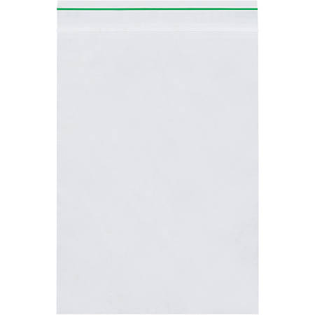 "Minigrip Reclosable GreenLine Bags 2 Mil, 6"" x 9"", Box of 1000"