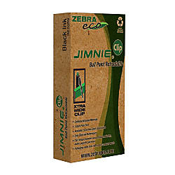 Zebra Eco Jimnie Clip Retractable Ballpoint