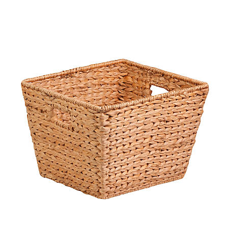 """Honey-Can-Do Water Hyacinth Basket, 15 3/4""""L x 14 1/2""""W x 12""""H, Brown/Natural"""