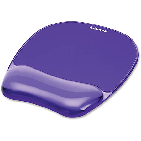 """Fellowes® Gel Crystals Mouse Pad With Wrist Rest, 1""""H x 7.94""""W x 9.25""""D, Purple"""