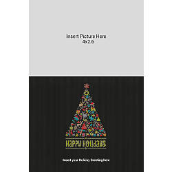 Flat Photo Greeting Card Black Tree