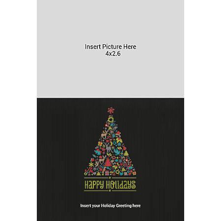 Flat Photo Greeting Card, Black Tree, Vertical