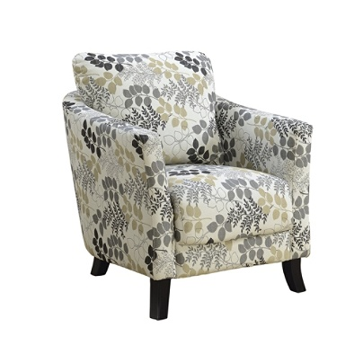Fine Monarch Specialties Box Seat Accent Chair Earth Tone Floral Black Item 5287155 Theyellowbook Wood Chair Design Ideas Theyellowbookinfo