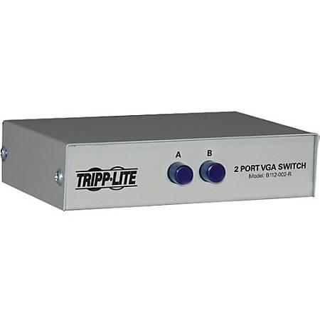 Tripp Lite 2-Port Manual VGA/SVGA Video Switch 3x HD15F Metal