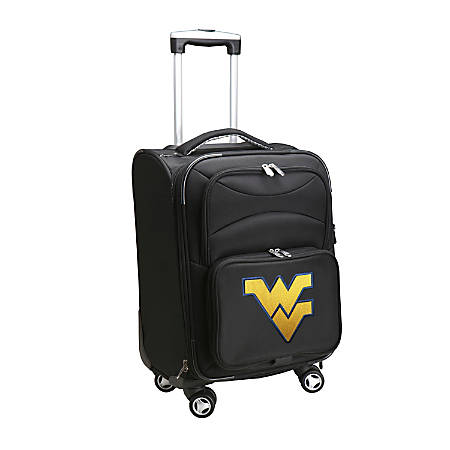 """Denco Sports Luggage Expandable Upright Rolling Carry-On Case, 21"""" x 13 1/4"""" x 12"""", Black, West Virginia Mountaineers"""