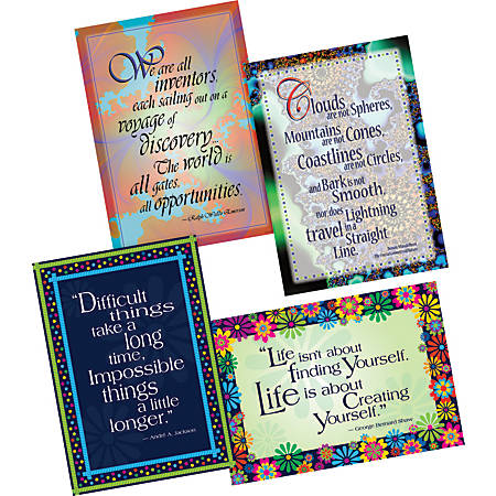 "Barker Creek Poster Pack, 19"" x 13 1/4"", Dare To Dream, Set Of 4"