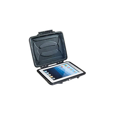 "Pelican HardBack 1065CC Carrying Case for 10"" Apple iPad Tablet - Black - Crush Proof, Dust Proof - Plush Interior - 9.3"" Height x 10.9"" Width x 1.2"" Depth"