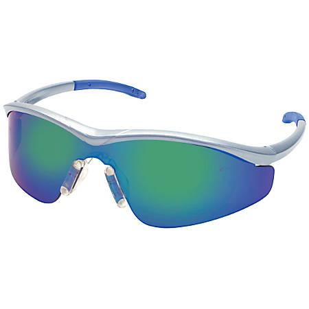 Triwear Indoor/Outdoor Anti-Fog Protective Eyewear, Mirror Lens, Onyx Frame, Case Of 12