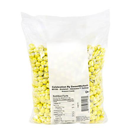 Sweetworks Sixlets Balls, Shimmer Yellow, 2-Lb Bag