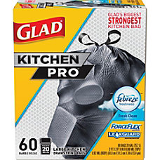 Glad ForceFlex KitchenPro 20 gal Drawstring