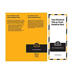 Customizable Trifold Brochure Black Hard Hat