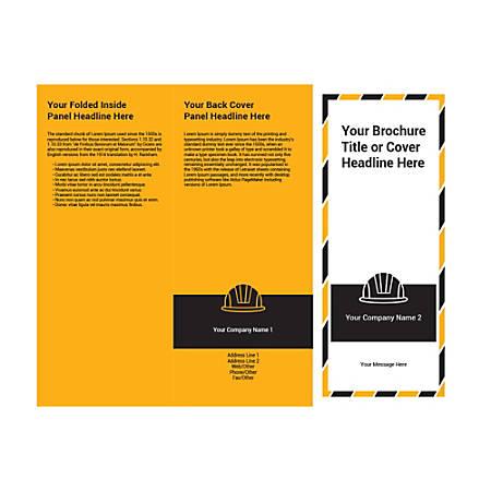 Customizable Trifold Brochure, Black Hard Hat