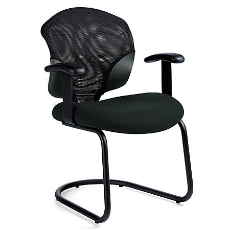 "Global® Tye Low-Back Chair, 35""H x 25""W x 26""D, Ebony/Black"