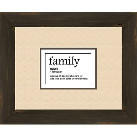 "PTM Images Expressions Framed Wall Art, Family Noun, 16""H x 18""W, Charcoal"