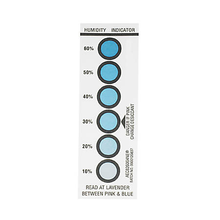 "Partners Brand 10-20-30-40-50-60% Humidity Indicators 1 9/16"" x 4 3/4"", Case of 200"
