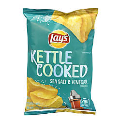 Lays Kettle Cooked Sea Salt And