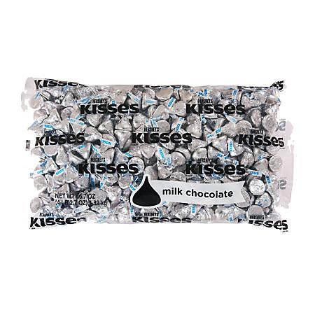 Hershey's® Kisses Milk Chocolates, 66-Oz Bag, Silver