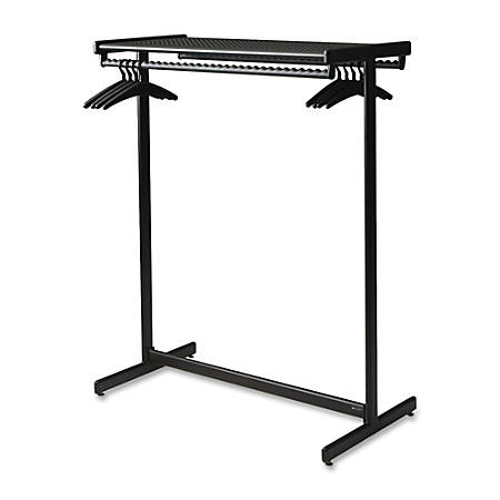 "Quartet Double-Sided Garment Rack, 61 1/2"" x 48"", Black"
