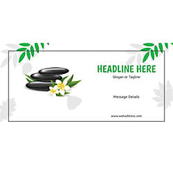 Custom Horizontal Banner Spa Stones Green