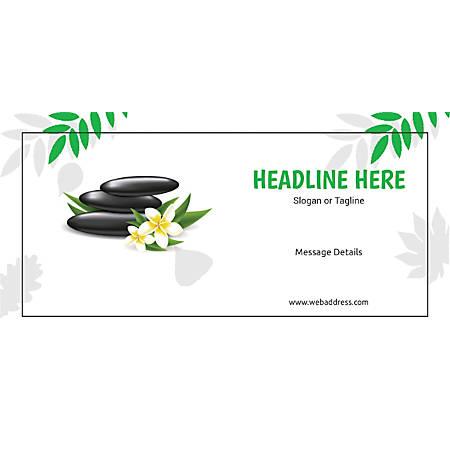 Custom Horizontal Banner, Spa Stones Green