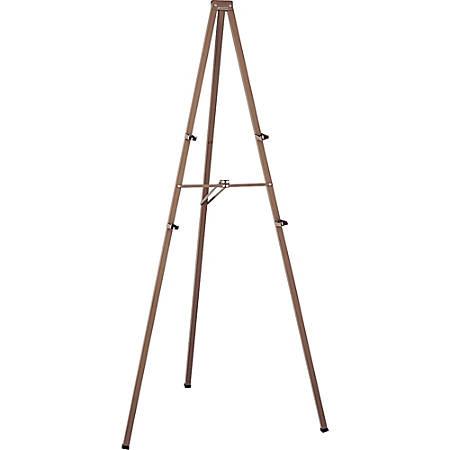 "Quartet® Steel Tripod Easel, 96"" x 48"", Bronze"
