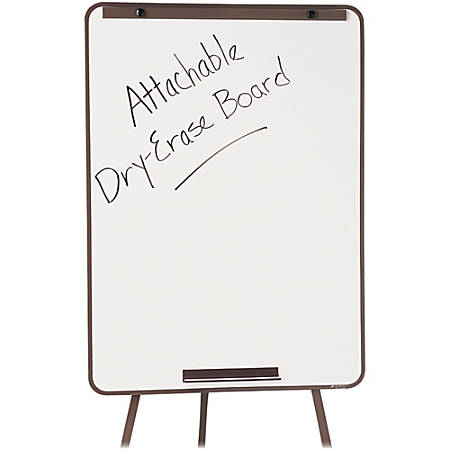 "Quartet® Attachable Whiteboard for Steel Tripod Display Easel - 29"" (2.4 ft) Width x 40"" (3.3 ft) Height - White Surface - Steel Frame - 1 Each"