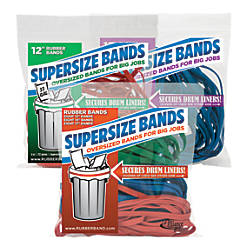 Alliance SuperSize Bands Assorted ColorsSizes Bag