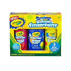 Crayola Washable Primary Color Finger Paint
