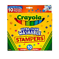 Crayola Ultra Clean Washable Stamper Markers