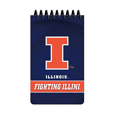 """Markings by C.R. Gibson® Memo Books, 3"""" x 5"""", 1 Subject, College Ruled, 100 Pages (50 Sheets), Illinois Fighting Illini, Pack Of 3"""