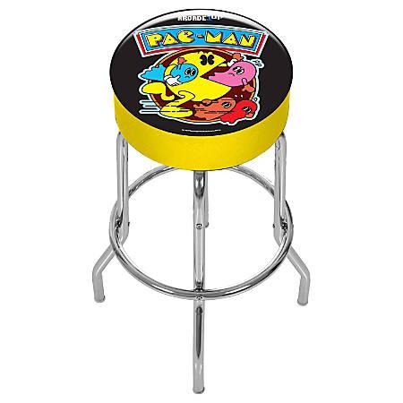 Arcade1Up Pac-Man Adjustable Stool, Black/Yellow